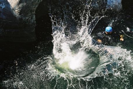 canyon à la base nautique des Camboux en Cévennes